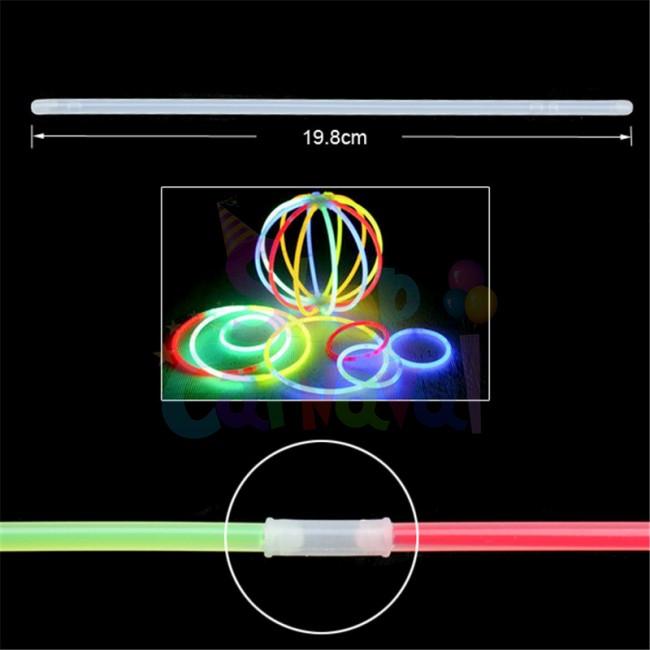 Set 100 bratari fluorescente multicolore