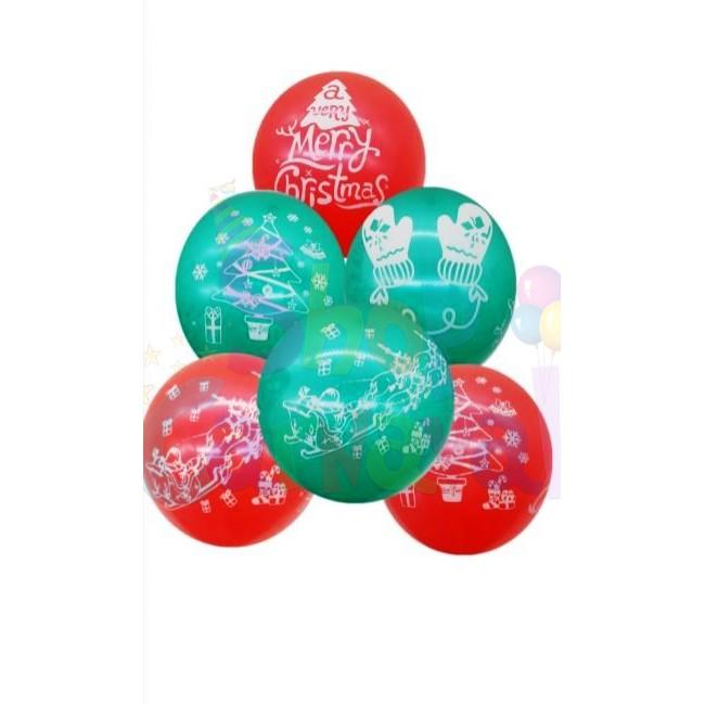 Set 6 baloane Latex, Tematica Craciun