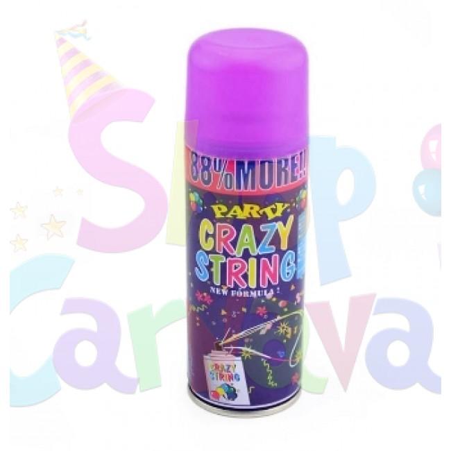 Spray confetti panglici pentru petreceri, Crazy Strings culoare Mov