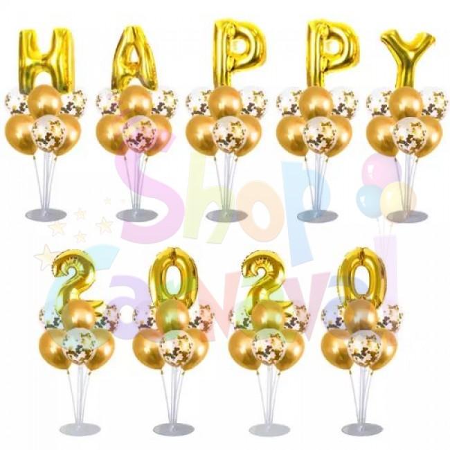 Set Revelion 2020, 72 bucati, Auriu